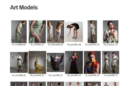 Art Models, una de fotografías para referencias y poses