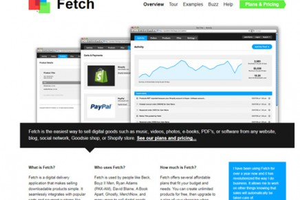 Fetch, Super simple online sales system