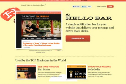 The Hello Bar – una barra de avisos para tu web