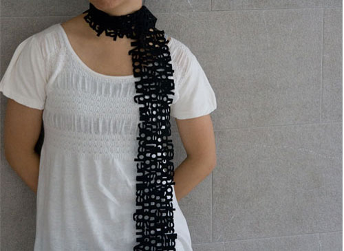 lowercase scarf