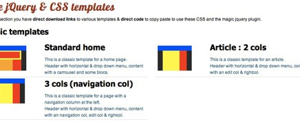 Free jQuery & CSS templates