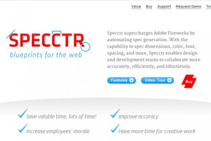 Specctr, blueprints for the web