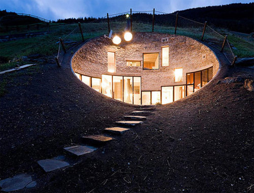 Swiss Mountain Underground House