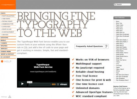 Typotheque web fonts, alternativa a Typekit
