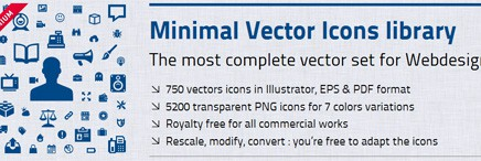 Vector Icons Library + User Interface Design Framework