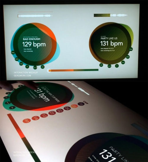 Multi Touch DJ turnTable