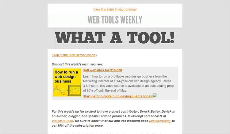 web-tools-weekly